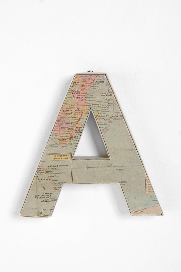 Cool Baby Nursery Idea Map Covered Alphabet Letters