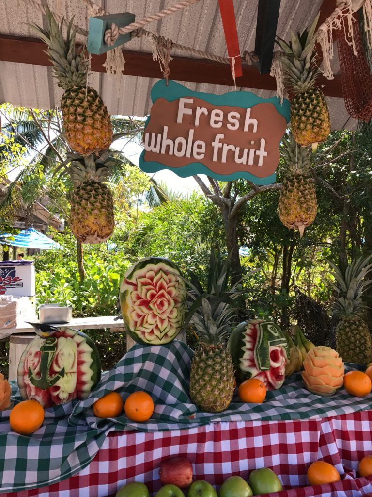 Top 11 Tips for Visiting Disney Castaway Cay. Kids will love the fresh fruit buffet on Castaway Cay.