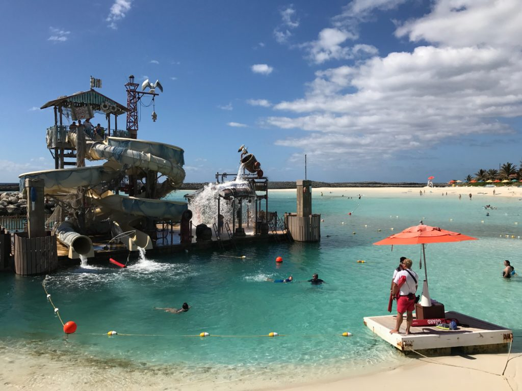 Top 11 Tips for Visiting Disney Castaway Cay. Pelican Plunge is a favorite spot for kids on Disney's Castaway Cay.