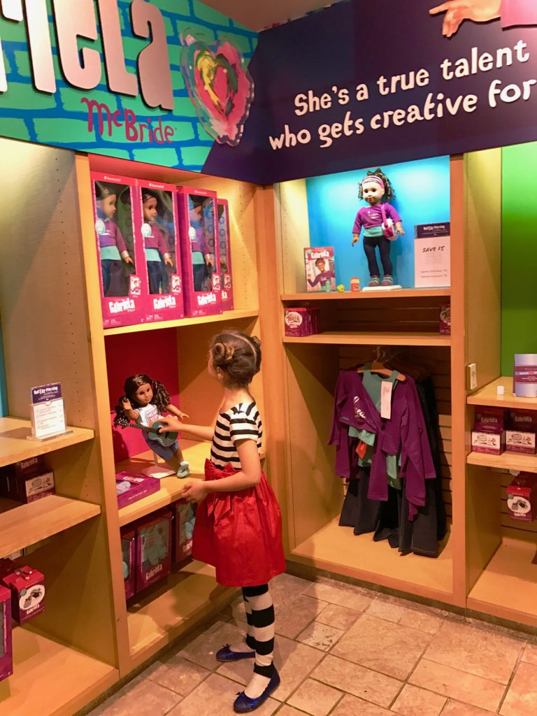 Gabriela McBride, the 2017 American Girl Doll of the Year loves art, dance and poetry. Tips for Visiting American Girl Place in NYC.
