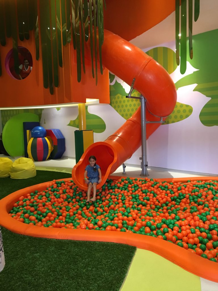 The Just Kiddin' ball pit at Nickelodeon Resort Punta Cana is so fun.