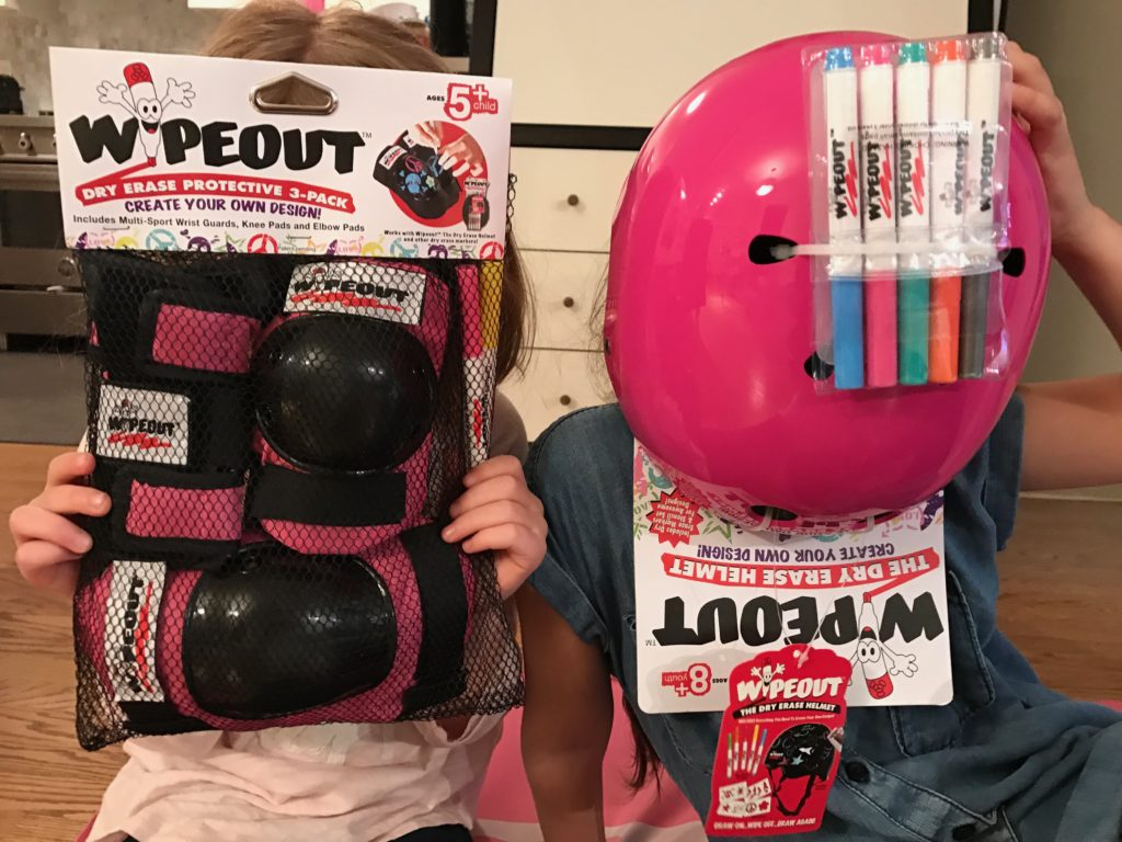 Get Crafty and Stay Safe with Wipeout Dry Erase Protective Gear, Scooter, helmet, safety, Wipeout, Dry erase, DIY