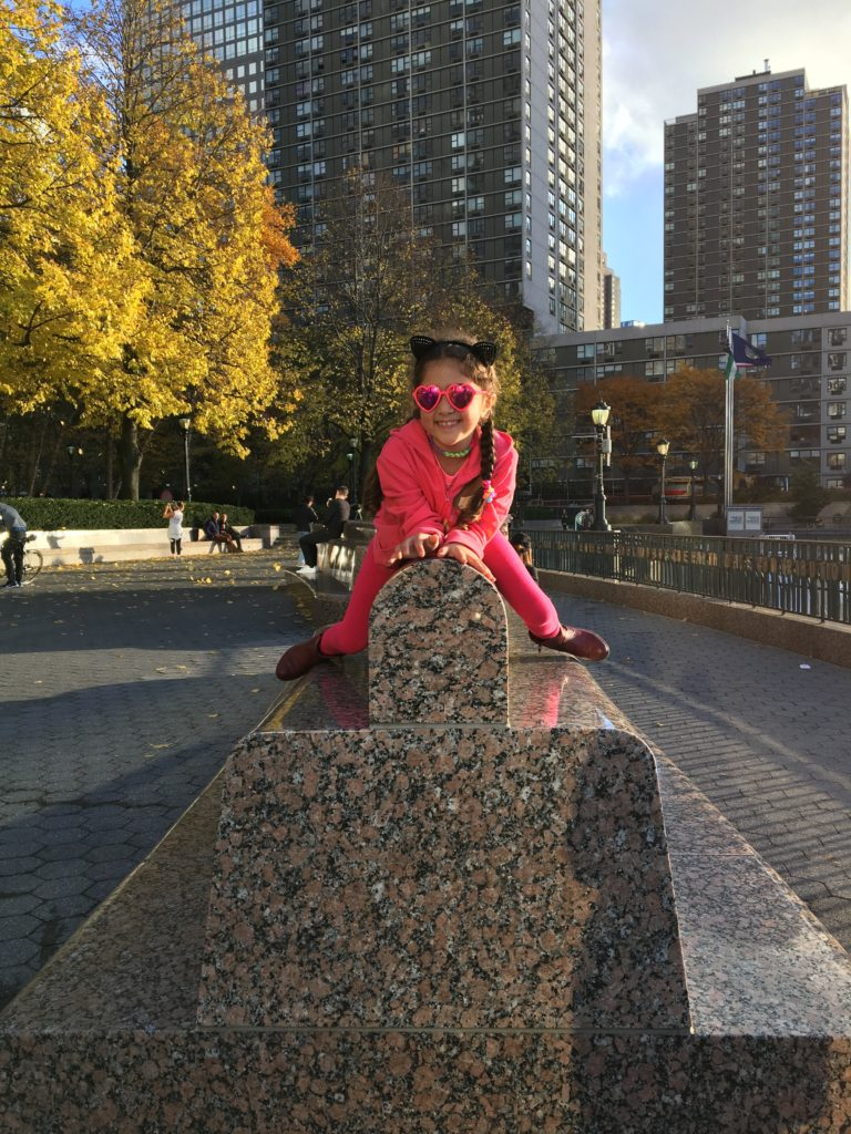 Battery Park City Esplanade is a favorite spot for families to explore. Staycation Fun at Conrad, New York.
