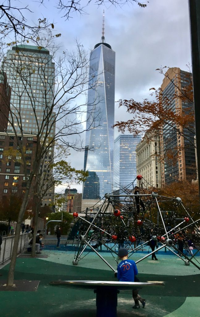 Downtown New York City has a variety of playgrounds. Staycation Family Fun at Conrad, New York.