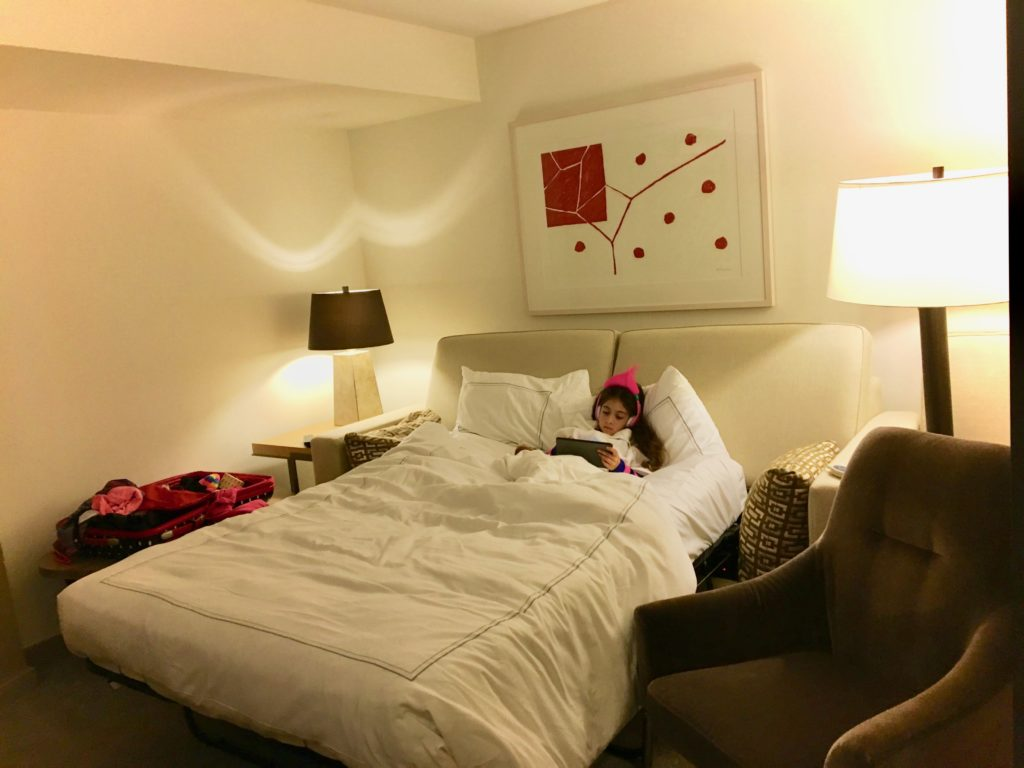 My daughter loved having her own space at Conrad, New York.