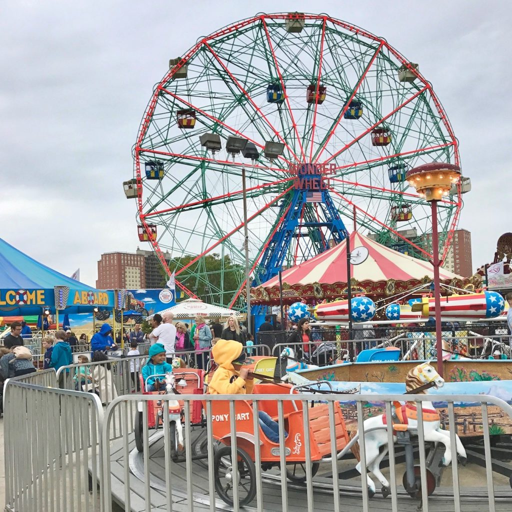 Dino's Wonder Wheel is one of Coney Island's top attractions.