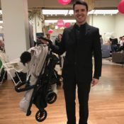 The Inglesina Zippy Light stroller stands when folded making it easy to store in NYC apartments.