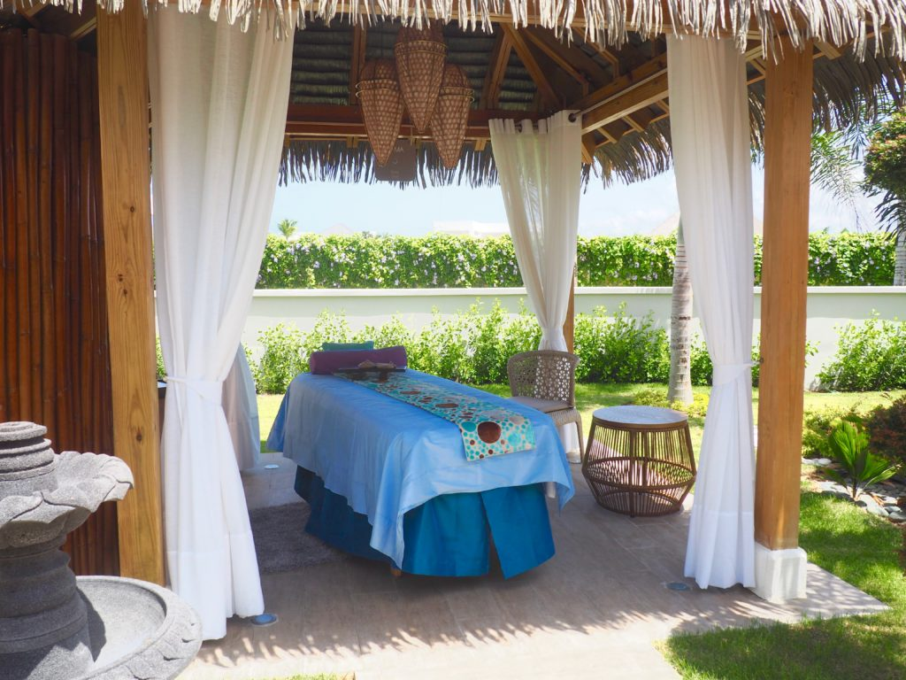 Vassa Spa features five al fresco treatment areas, globetrotting mommy, Nickelodeon Punta Cana, Family Travel, All inclusive vacations, spa