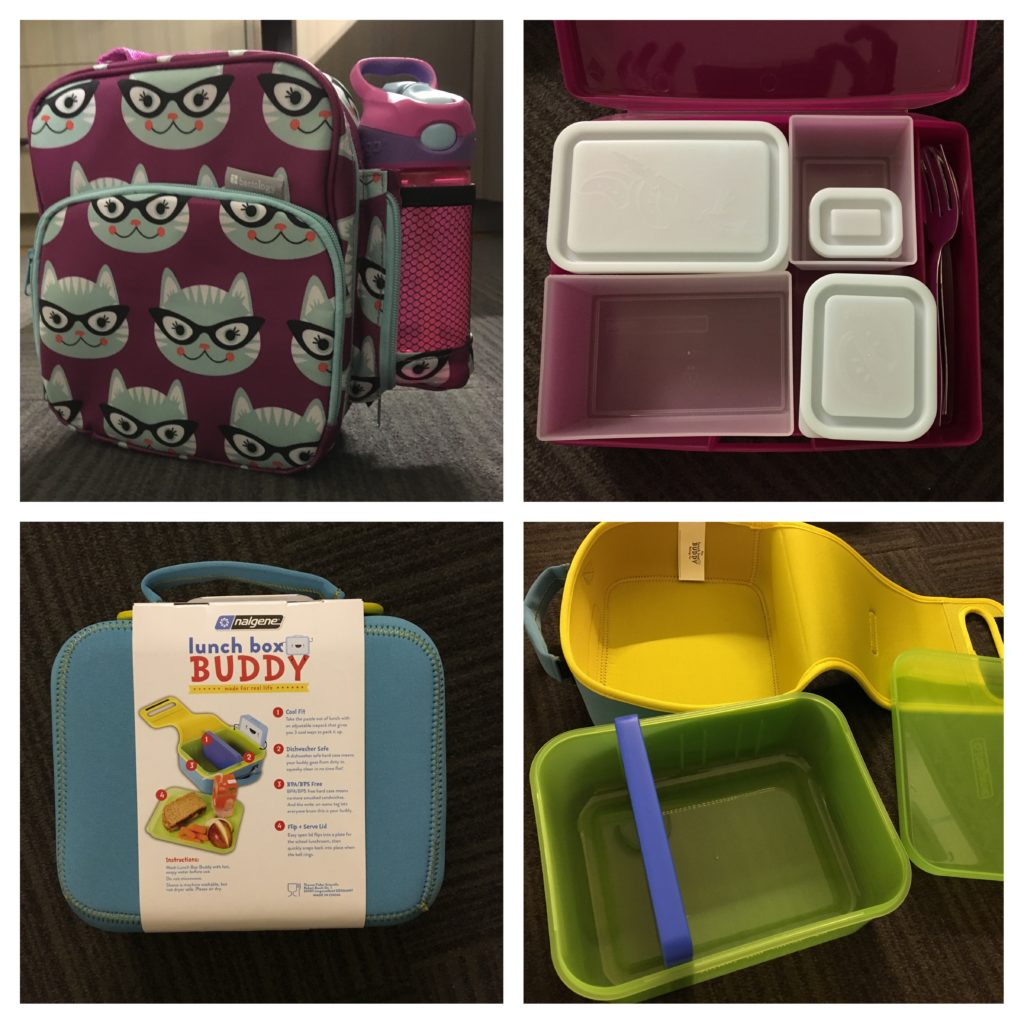 Bento style lunch boxes are great for school and travel. Bentology, back-to-school, nalgene, globetrotting mommy