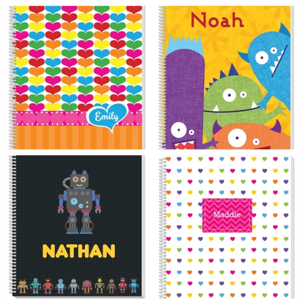 Personalized notebook, back-to-school, traveling, personalized gifts for kids