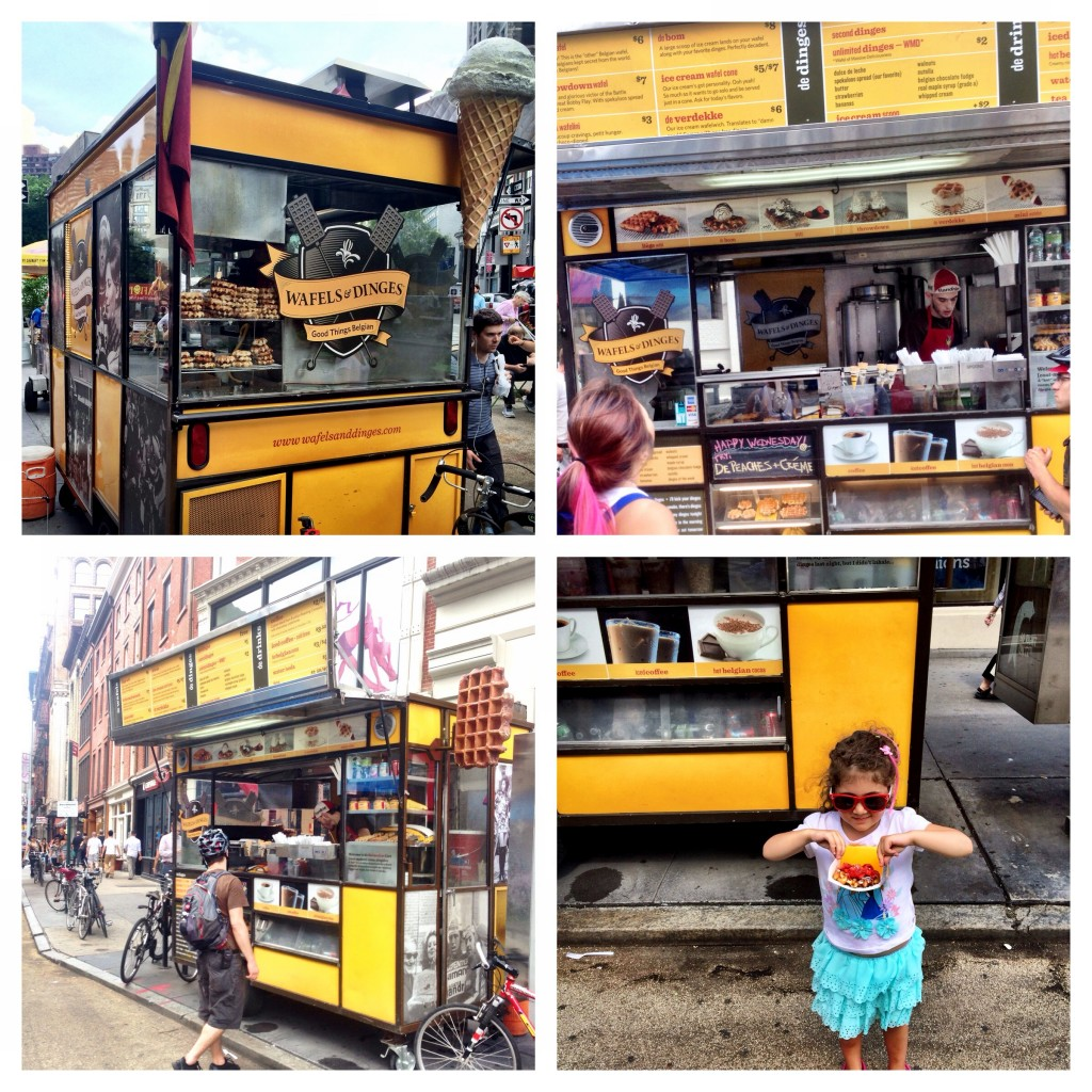 New york city nyc wafels dinges food truck belgium waffles