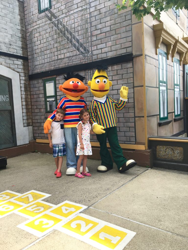 Meeting the Sesame Street Characters is a must at Sesame Place. Langhorne, Pennsylvia, bert and ernie