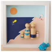 Globetrotting Mommy, Family Vacation, Portraits, Modern, Shadow Box, Etsy, Customizable