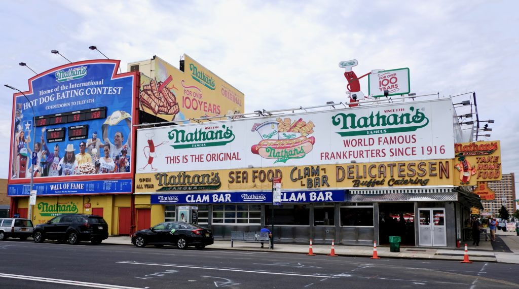 Nathan's Famous is a must for Coney Island visitors.